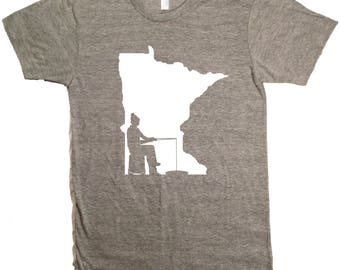 Ice Fishing Minnesota T-Shirt