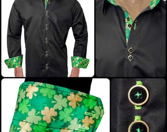 Designer Dress Shirts for St Patricks Day - Made To Order in USA