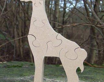 giraffe ornament, zoo animal, zoo, gift, giraffe gift, children's ornament, wooden giraffe, wooden ornament, giraffe lover gift
