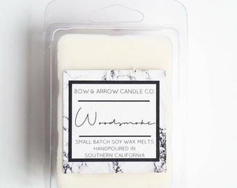 Woodsmoke Soy Wax Melts | Campfire Scented | Masculine Wax Melts | Soy Wax Melts | Wax Tarts | Gift Idea | Scented Wax Melts | Dad Gift