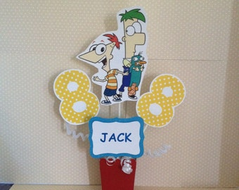 Phineas and Ferb Party Centerpiece Decoration