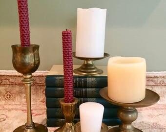 Brass Candlesticks Brass Candle Holders Brass Candlestick Holders Gold Candle Holder Wedding Candle Holders Old Candlesticks Holiday Candles