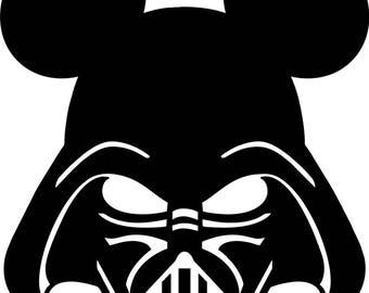 Darth Vader Mickey Vinyl SVG