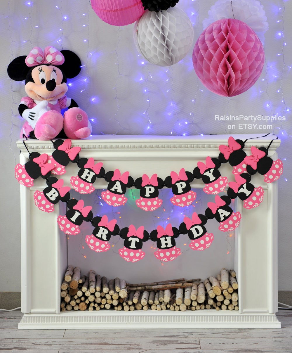 Minnie Mouse birthday decorations pink inspired Disney party