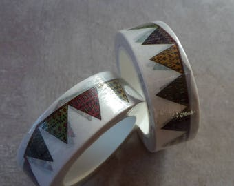 10 meters Washi tape flags, Masking tape Garland flags colorful, roller tape paper tape - 1.5 cm / 10 meters