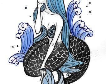 Inktober Day 30 Mermaid