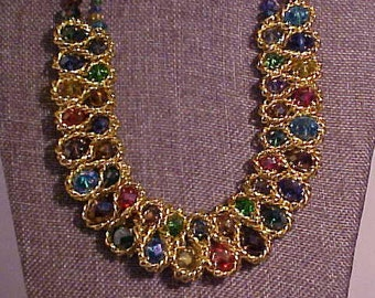 Fabulous Fashion necklace, very well made and Hard to Miss.  Colorful and inteesting.  FREE shipping in the United States