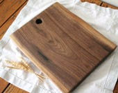 Walnut live edge cheese board, serving tray, serving board, display board, wooden serving slab - handmade, reclaimed, salvaged