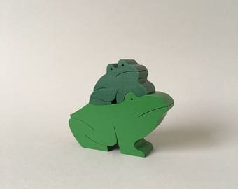 NAEF Wooden Toys - Sabu Oguro Animal Puzzle Frogs - Perfect Gift