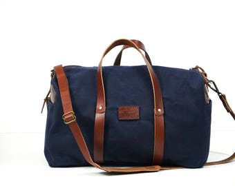 Duffel Bag, Canvas Duffel Bag, Leather Duffel Bag, Travel bag, Weekender Bag, 3 Day Bag, Handmade Bag, Overnight Bag