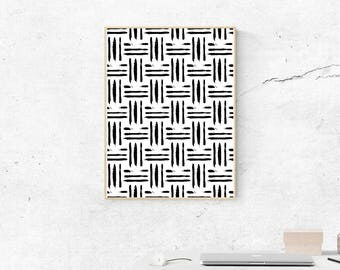 Black and White Check Print, Black and White Art, Digital Download, Wall Art, Wall Prints, Printable Art, Most Popular Prints
