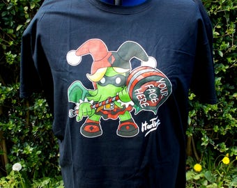 "Kids Size Harthu - Harley Quinn Cthulhu Mashup Original Design T-shirt Creepy Cute XS to XL Kids 26"" to 34"" 5 Sizes"