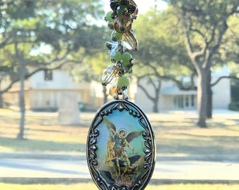Saint Michael Rearview Car Mirror charms