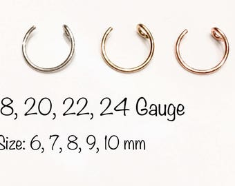 how to make a fake nose ring hoop