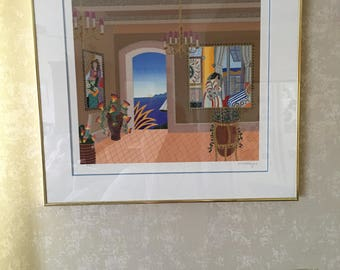 """Thomas McKnight Silkscreen """"Antibes"""" Signed and Numbered"""