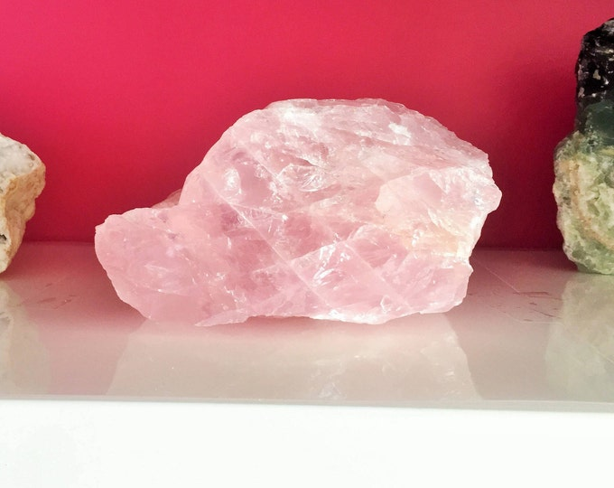 HUGE Rose Quartz Crystal w/ Reiki,Large Healing Crystals and Stones