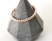 Thick Rose Gold Beaded Stacking Rings, Beaded Ring, Thick Beaded Ring, Rose Gold Stacking Rings, Bead Rings, Layering Ring, Rose Gold Filled