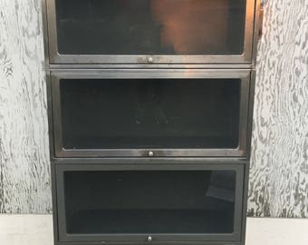 Vintage Stackable Metal Barrister Bookcase c. 1968