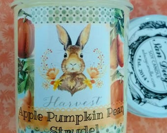 Apple Pumpkin Pear Strudel soy candle