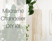Macramé Chandelier DIY Kit and Tutorial for Beginners | Macrame Pattern Kit | Macrame DIY | Macrame Wall Hanging | Macramé How To Kit