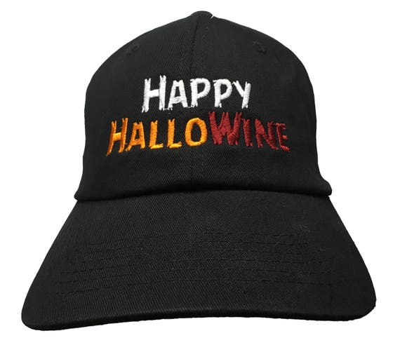 Happy HalloWine (Polo Style Ball Cap available in various color combos)