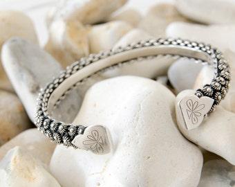 Silver Cuff Bracelet, Boho Bracelet, Sterling Silver Bangle, Bangles Band, Ethnic Bracelet, Tribal Bracelet, Gift For Her, Boho Gift, 925