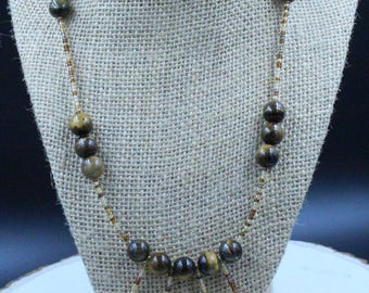 Tiger's Eye Tribal Necklace