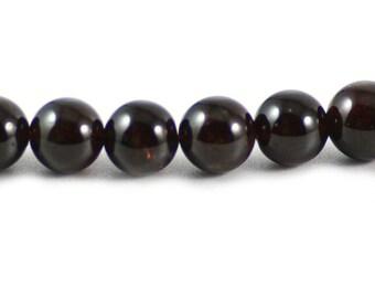 Garnet Gemstone January Birthstone Wine Red Round Bead 10mm