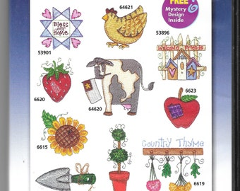 Amazing Designs - Coiuntry Crafters COllection I - Multi-format -  Machine Embroidery CD - New/opened pkg