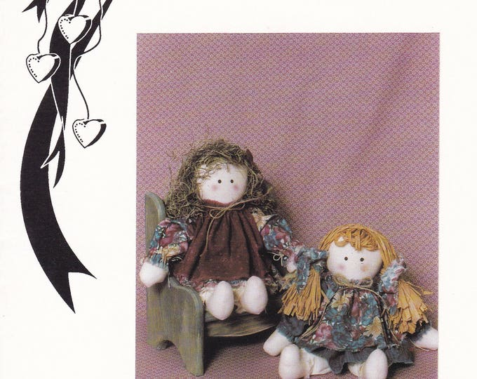 FREE US SHIP Country Heartstrings Craft Sewing Pattern  New 1991 Gloria Munyan Kountry Kids Ragtime Pals in Cloth Dolls 135