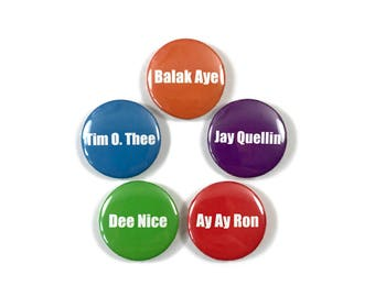 Key and Peele Substitute Teacher Mispronounced Names 5 - 1 Inch Button Set