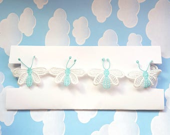Butterfly Choker Necklace Kawaii Jewelry Lolita Adult Baby Doll Cute Pastel Blue White Fairy Kei Ddlg Abdl Gold Silver Cgl Kitten Collar