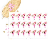 Flamingo no spend sticker, life planner sticker for kikki k, filofax or erin condren