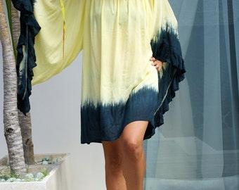 Bohemian Short Dress Tunic/Large frill boho dress/Beach dress/Summer trendy Short Dress * MAGICAL SHORT DRESS