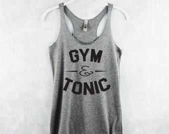 Workout Tank Top - Fitness Tank Top - Yoga Shirt - Gym Shirt - Workout Shirt - Gym & Tonic