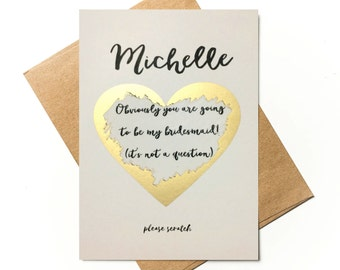 Personalised Bridesmaid Proposal - Obviously you are going to be my bridesmaid!