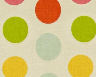 Riley Blake Large Dots; Pattern C710 11;  Color multi white; 1/2 yard; woven cotton fabric