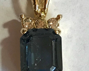Vintage Topaz and Gold Pendant