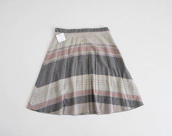 70s plaid skirt | plaid wool skirt | plaid skirt xl