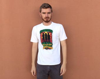 90s Israel Vibrations World Tour T-Shirt size LARGE ~ 4705