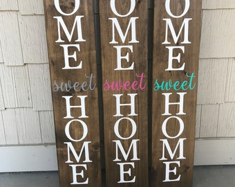 LARGE, Front porch sign, home sweet home sign, welcome sign, porch sign, home sweet home outdoor sign, welcome front porch sign