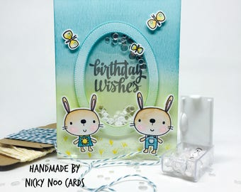 Handmade Birthday Shaker Card