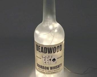 Deadwood Bourbon Whiskey Bottle Light / Gifts for Men / Gift Ideas