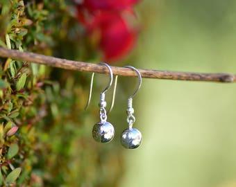 SALE Sterling Silver Ball Earring Silver Drop Earring 925 Silver Jewelry Silver Small Earring Silver Drop Earring Silver Dangle Earring Gift