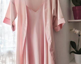 Satin Robe and Slip dress