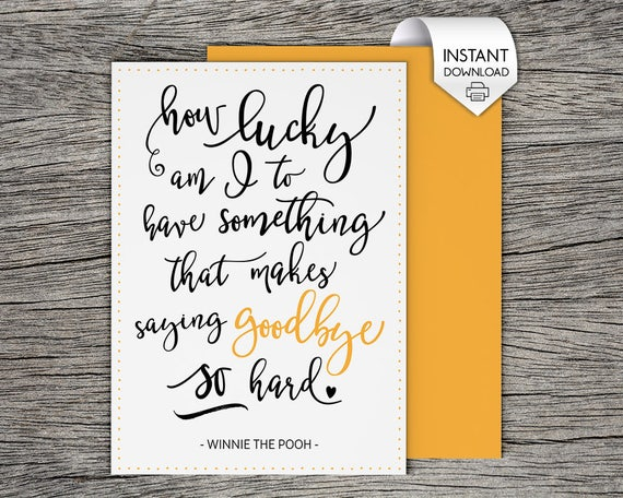 Printable Goodbye Card  BesikEightyCo