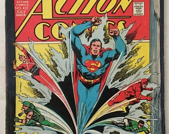 Superman Action Comics #437 FN+ 6.5 - 100 Pages DC Comics Bronze Age 1974
