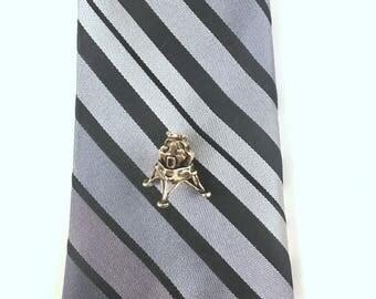 Lunar Lander Tie Pin, Vintage Gold Tie Tack, Satellite Tie Tack, Gold Tone Metal, Vintage 1970s Moon Landing Tie Pin. Lunar Module Eagle