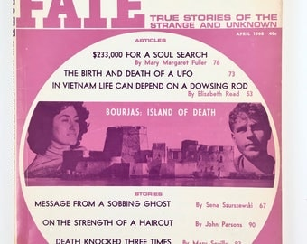UFO Magazine, Fate, True Stories of the Strange & Unknown, Vintage 1960s, UFOs, Ghosts, Power of Hex, Men in Black, Spooky Scary Stories