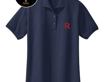 Real Blessed Men Logo Polo Shirt - Navy - Pink - Red